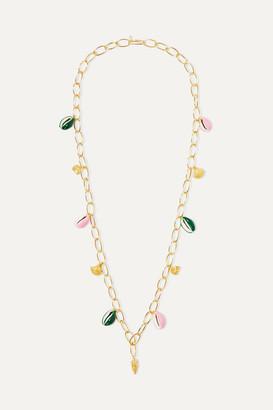 Aurélie Bidermann Aurelie Bidermann - Panama Gold-plated, Shell And Enamel Necklace