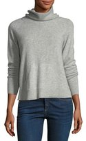 Veronica Beard Oliver Funnel-Neck Pullover Cashmere Sweater