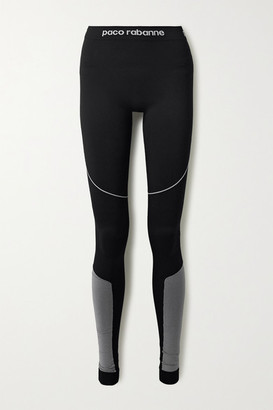 Paco Rabanne Paneled Tech-jersey Stirrup Leggings