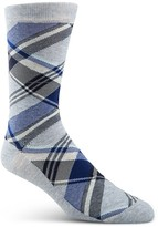 Cole Haan Diagonal Plaid Crew Socks
