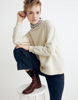 Madewell Rivet & Thread Seamed-Sleeve Sweatshirt