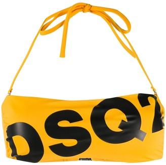 DSQUARED2 Logo-Print Bikini Top