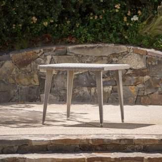 Longshore Tides Malta Wicker/Rattan Dining Table Longshore Tides Color: Chateau Gray