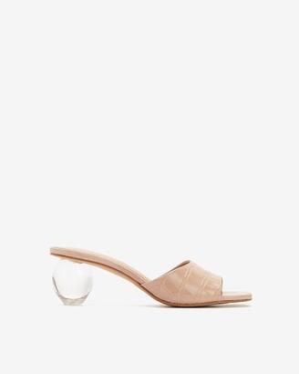 Express Crystal Ball Heeled Sandals