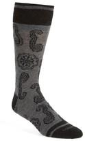 Lorenzo Uomo Men's Floral Crew Socks