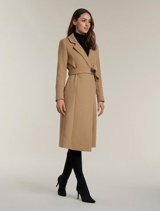 Forever New Donna Wrap Coat - Camel - 8