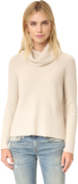Alice + Olivia Nettie Raglan Rib Turtleneck Sweater