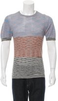Missoni Patterned Knit Crew Neck Sweater