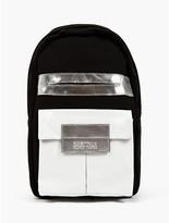 x Nicomede Men's Black/White Felt and Leather Backpack