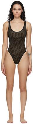 Fendi Black Forever Core One-Piece Swimsuit