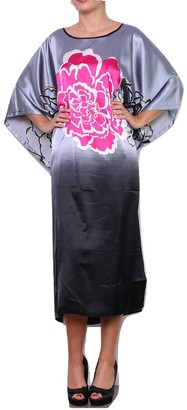 Secret Collection Womens Long Kaftans Floral Ladies Maxi Dress Oversized Nightwear Black 6-16