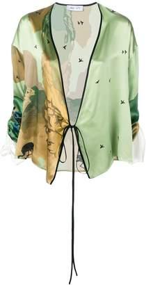 Act N°1 wrap kimono top
