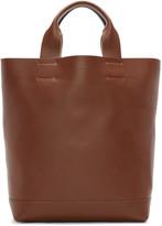 Marni Brown & Green Leather Tote