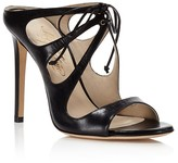 Alejandro Ingelmo Mariposa Leather Cutout High Heel Mule Sandals