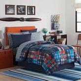 Parker Comforter Set in Orange/Blue