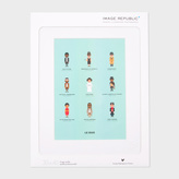 Paul Smith Iconic Film Characters Print By Le Duo For Image Republic
