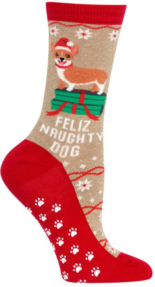 Hot Sox Feliz Naughty Dog Slipper Socks