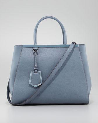 Fendi 2Jours Medium Tote Bag, Sky