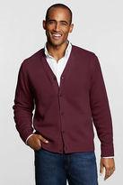 Lands' End Men's Button-front Drifter Cardigan Sweater