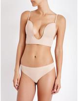 Fashion Forms Nude Seamless U Plunge Bra, Size: 34B