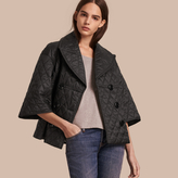 Burberry Diamond Quilted A-line Jacket