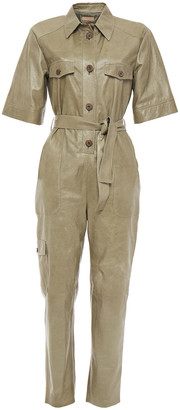 Drome Belted Leather Jumpsuit