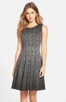 Eliza J Print Ombré Sleeveless Fit & Flare Dress (Regular & Petite)