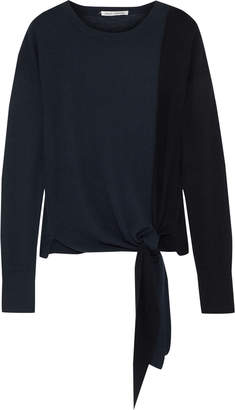 Autumn Cashmere Tie-front Cashmere Sweater