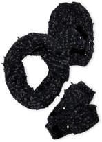 Betsey Johnson 3-Piece Scarf Beanie & Mitten Gift Set