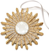 Holiday Lane Gold-Tone Snowflake With Faux Jewel Ornament, Created for Macy's