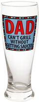 Blue 'Dad Can't Grill' Pilsner Glass