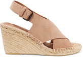 Vince Sabrina Suede Espadrille Wedge Sandals - US5