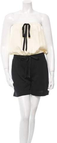 Chanel Strapless Knit Romper