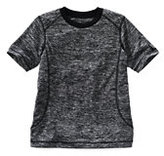 Classic Boys Space Dye Active Tee-Black