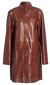 Lafayette 148 New York Women's Svannah Perforated Leather Jacket