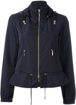 Armani Jeans zip up hooded biker jacket - women - Polyester - 40