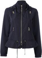 Armani Jeans zip up hooded biker jacket - women - Polyester - 40