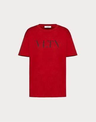 Valentino Vltn T-shirt Women Black/ Red Cotton 100% S