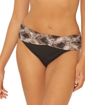 BLEU by Rod Beattie Python Print Sarong Bikini Bottoms Women's Swimsuit