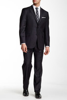Hickey Freeman Classic Fit Charcoal Two Button Notch Lapel Wool Suit