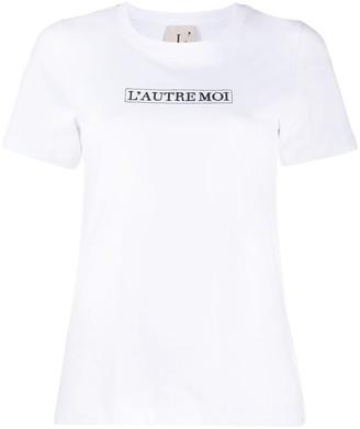 L'Autre Chose logo-print crew neck T-Shirt