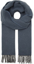 Richard James Herringbone cashmere scarf