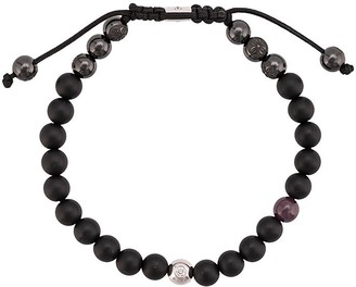 Shamballa Jewels 18kt black gold ruby and onyx beaded bracelet