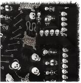 Alexander McQueen 'Voodoo Skull' scarf - men - Silk/Modal - One Size