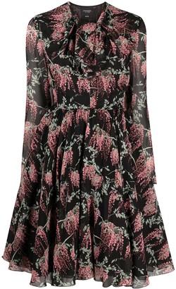 Giambattista Valli Floral-Print Pussy-Bow Dress