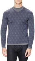 Armani Collezioni Wool Intarsia Pullover Sweater