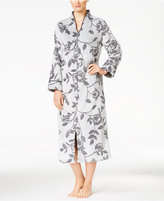 Charter Club Petite Zip-Front Tapestry-Embossed Robe, Only at Macy's