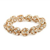 BaubleBar Gold Disco-Ball Bangle