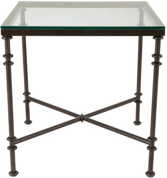 OKA Pompidou Metal & Glass Side Table, Large - Metal