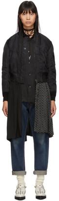 Junya Watanabe Reversible Black Bomber Jacket